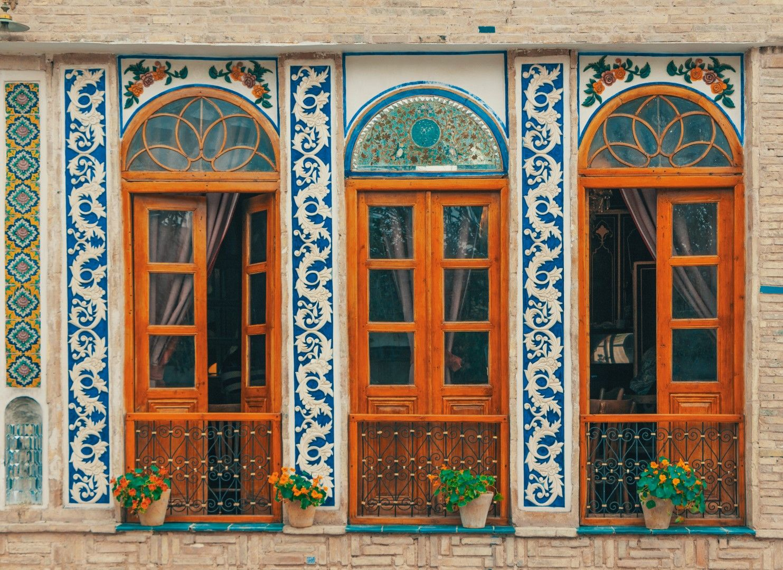 Фасада на сграда в Исфахан