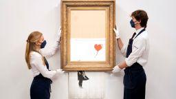 Нарязаната картина на Банкси, продадена за 1,4 милиона долара, отново отива на търг