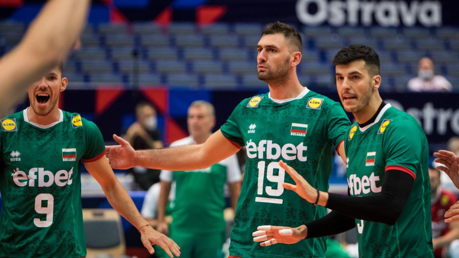 Волейболистите на България сразиха Черна гора на старта на Евроволей 2021