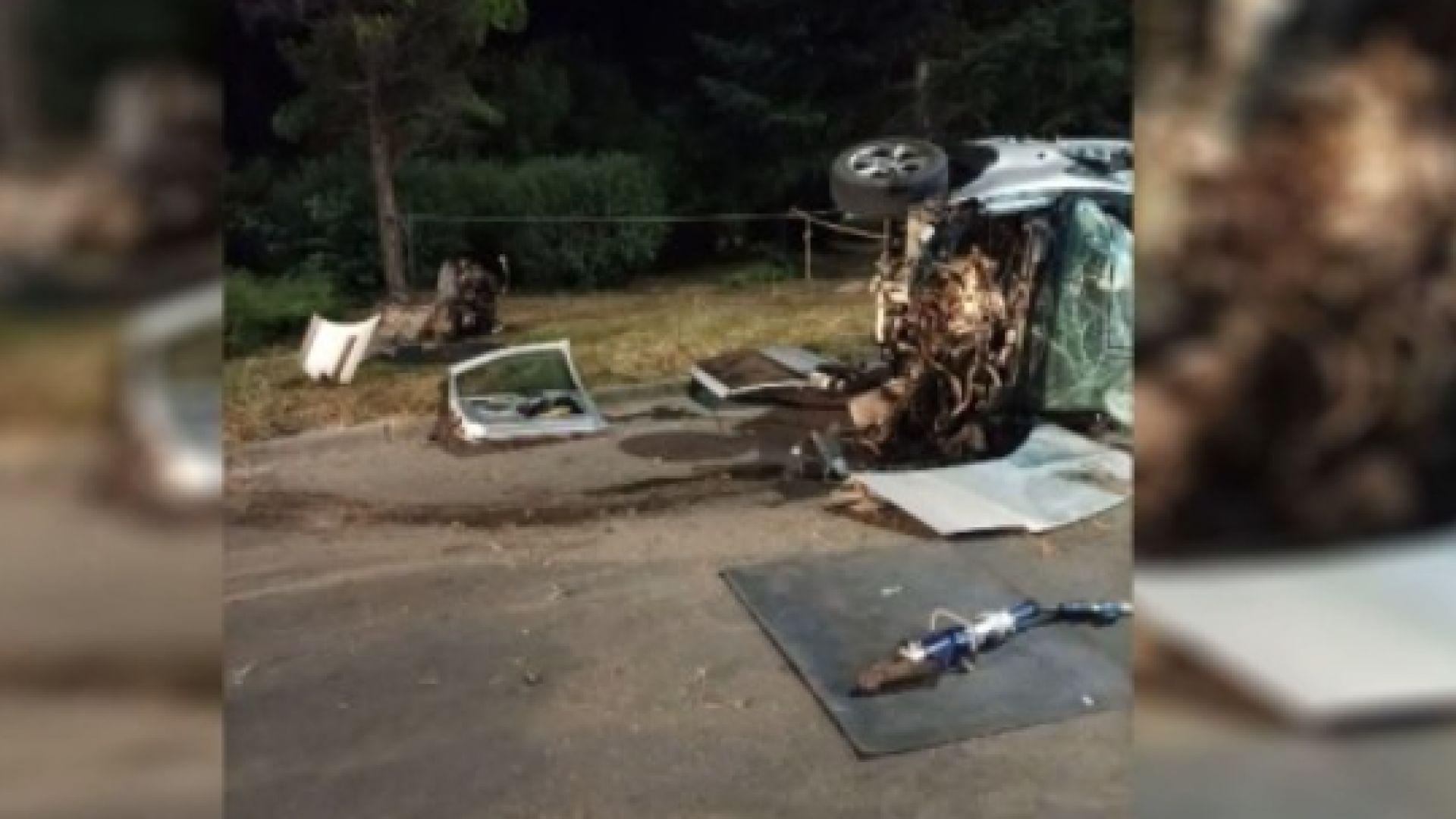 Дрогиран шофьор на БМВ уби трима души при катастрофа край Евксиноград
