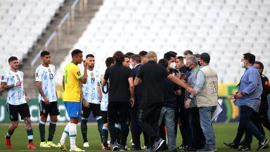 """Официално: Отложиха Бразилия - Аржентина след фарса с """"нелегалните"""""""