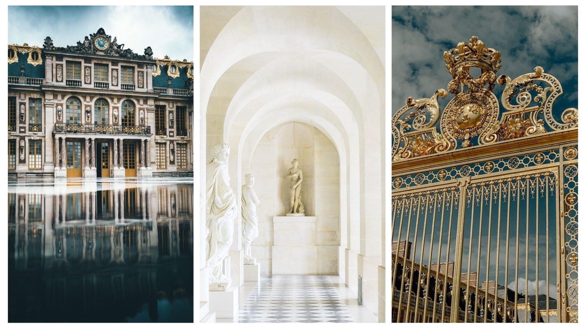 Най-вляво е входът за апартаментите на краля, където е скрит тайният му кабинет