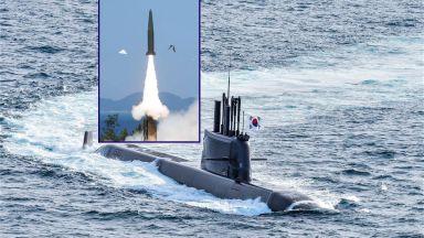 Южна Корея изстреля балистична ракета с подводно базиране