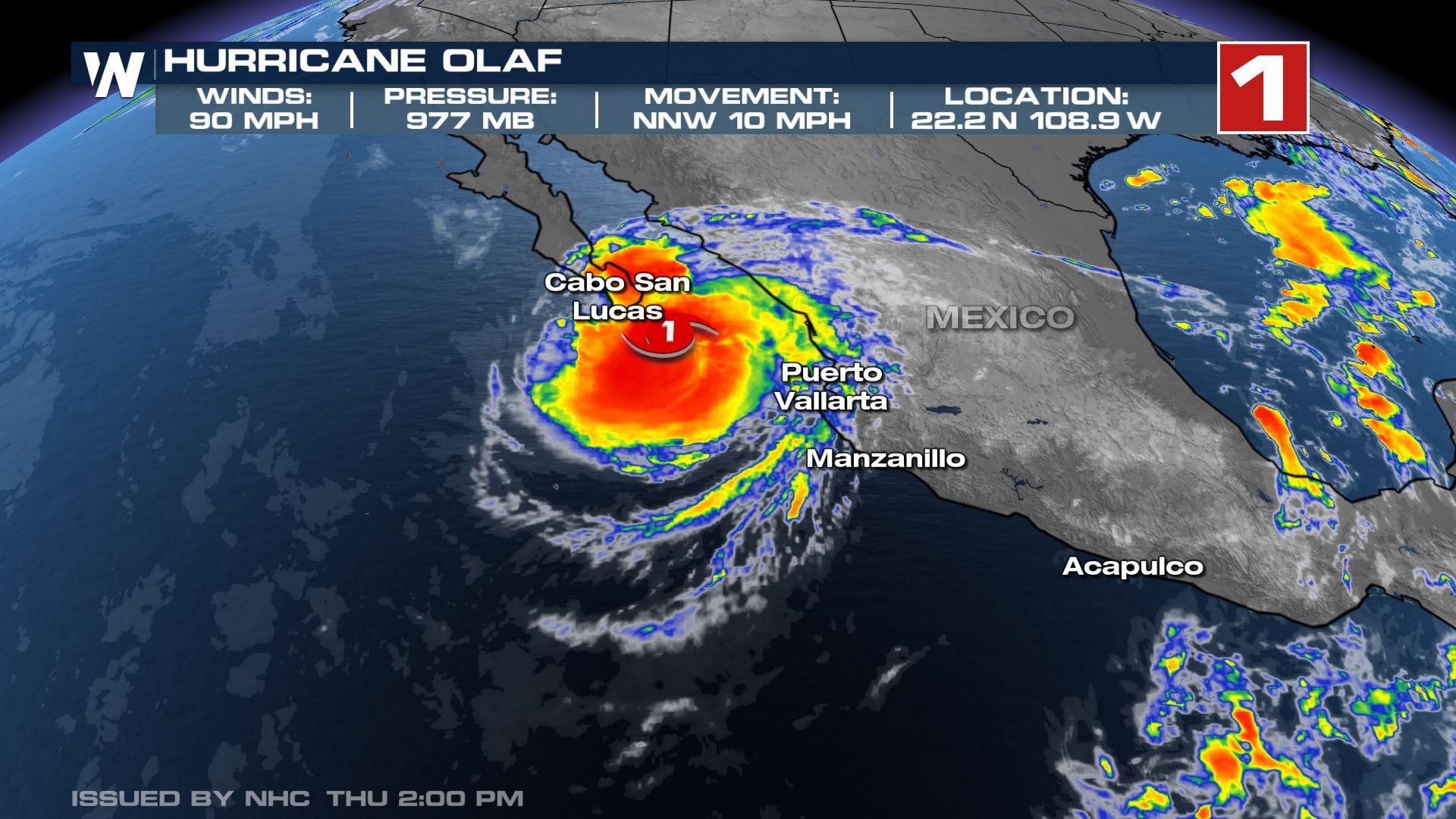 Южна долна Калифорния притихна в очакване на урагана Олаф