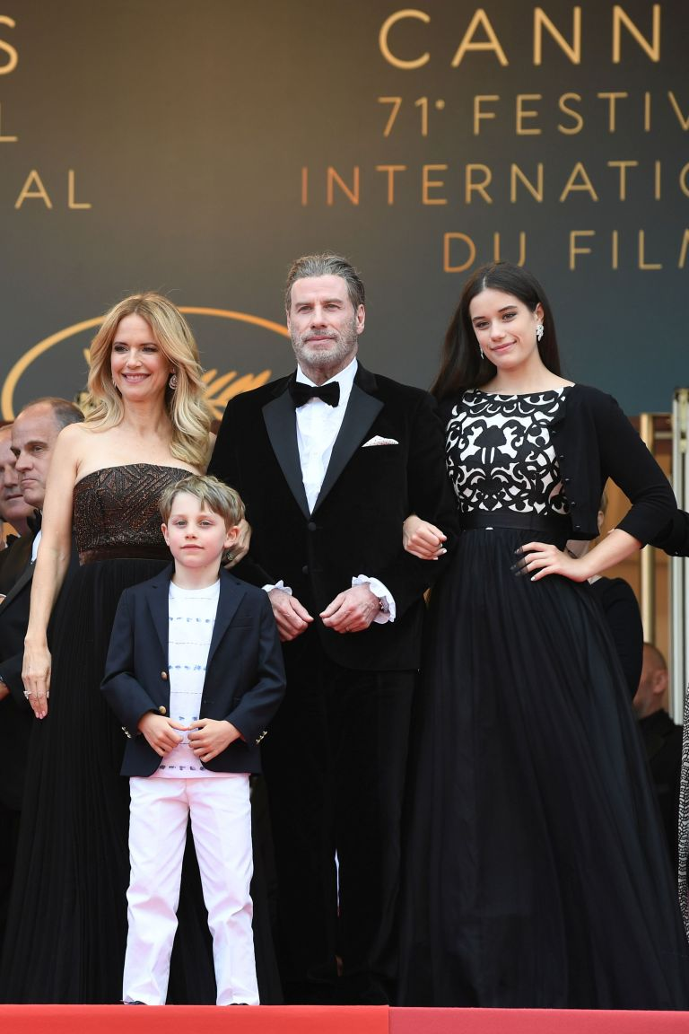Kelly, Benjamin, John and Ella in Cannes in 2018.