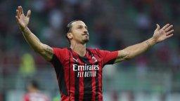 Златан се завърна с гол, високо летящият Милан взе дерби