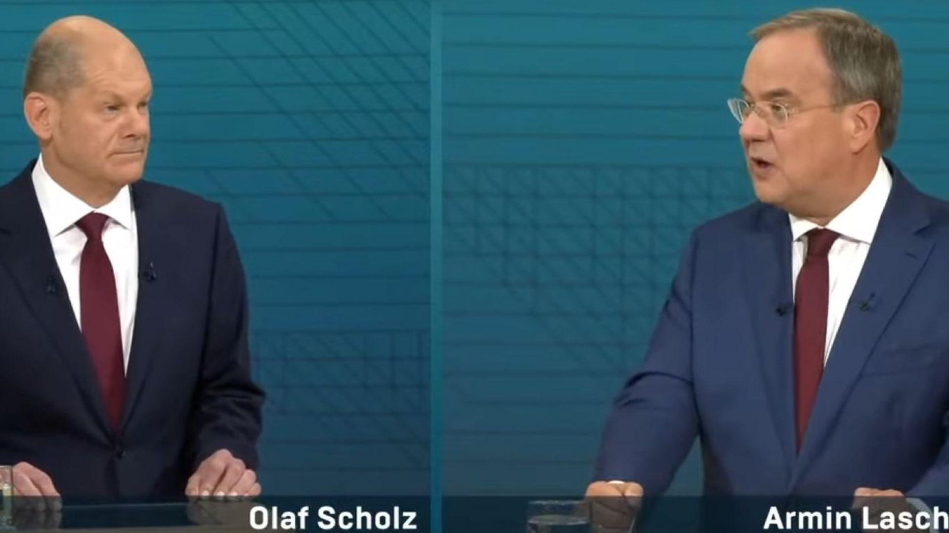 2 седмици преди вота: Кандидатите за канцлер на Германия влязоха в ТВ сблъсък