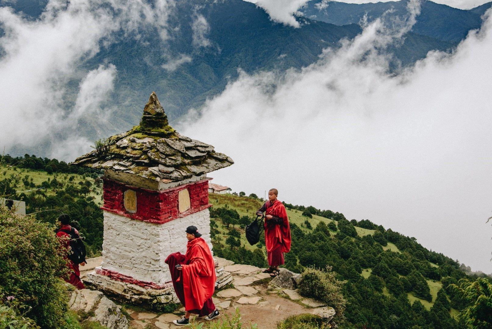Манастирът Туджидраг Гомпа край столицата на Бутан Тхимпху