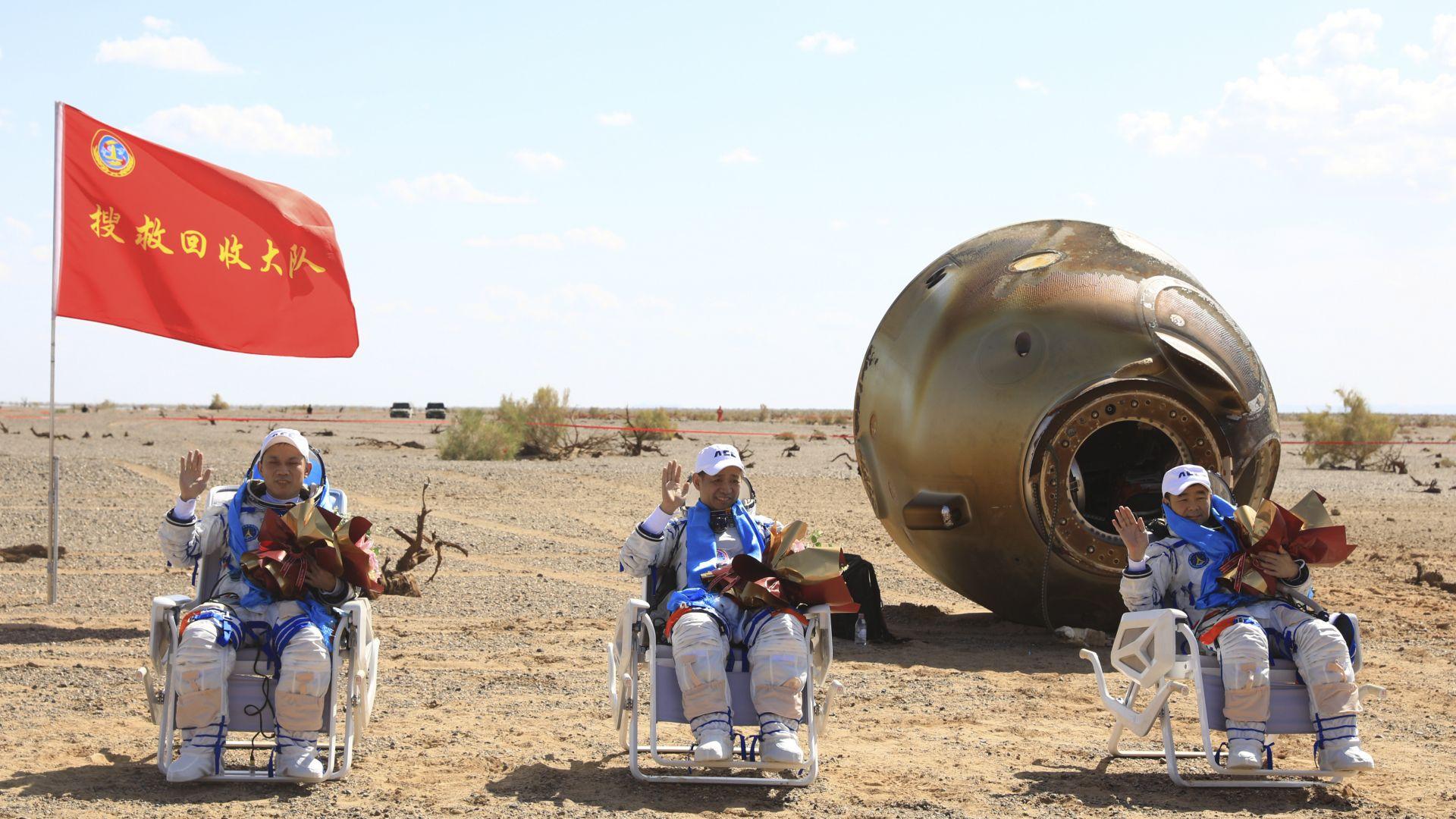 Китайските тайконавти прекараха 3 месеца в орбита