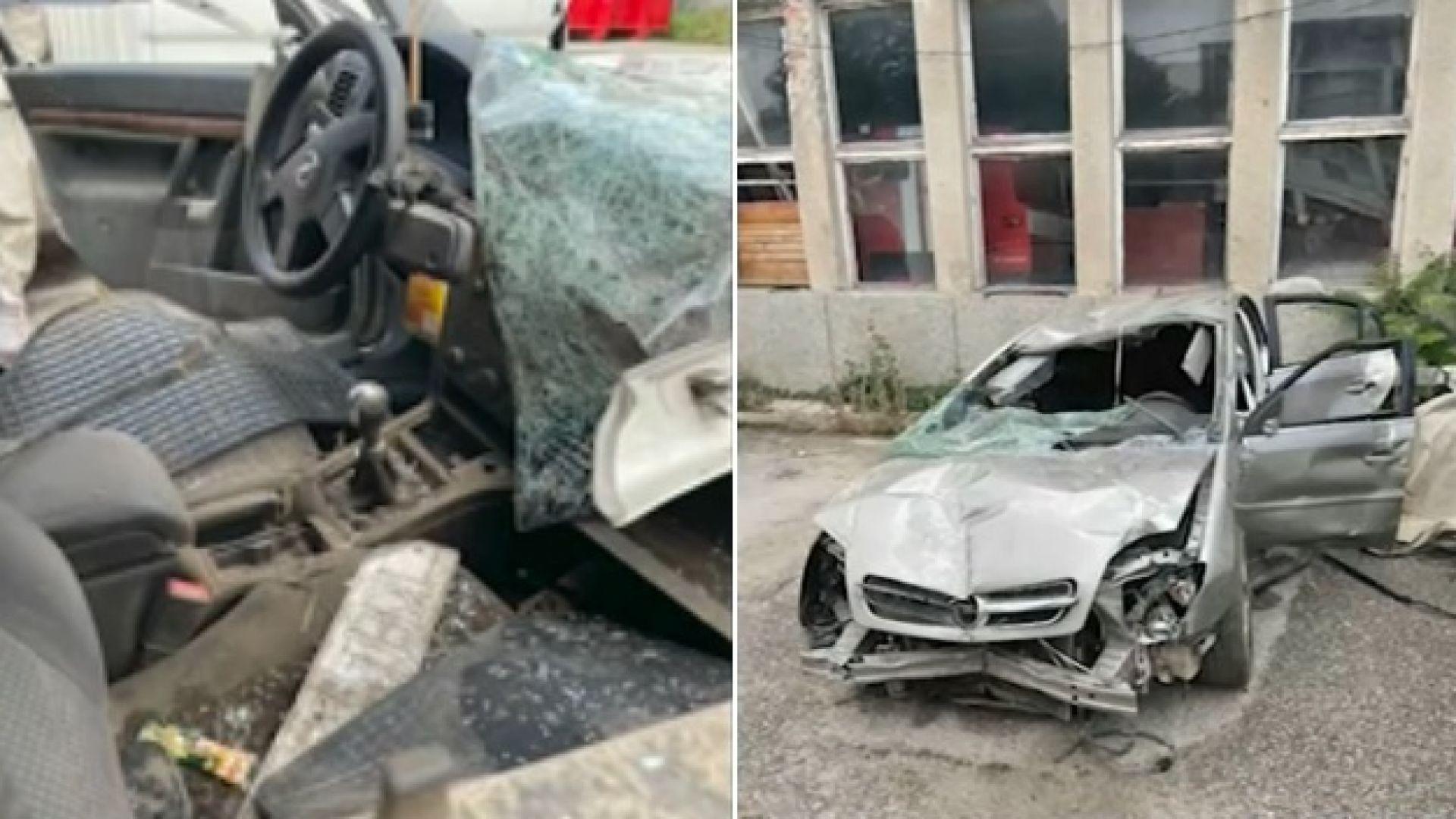 """Шофьор оцеля по чудо в канавката на АМ """"Хемус"""", издирват виновните водачи"""