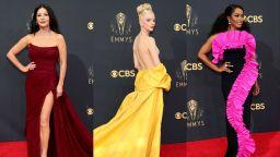 """Смели цветове и блясък по червения килим на наградите """"Еми"""" (снимки)"""