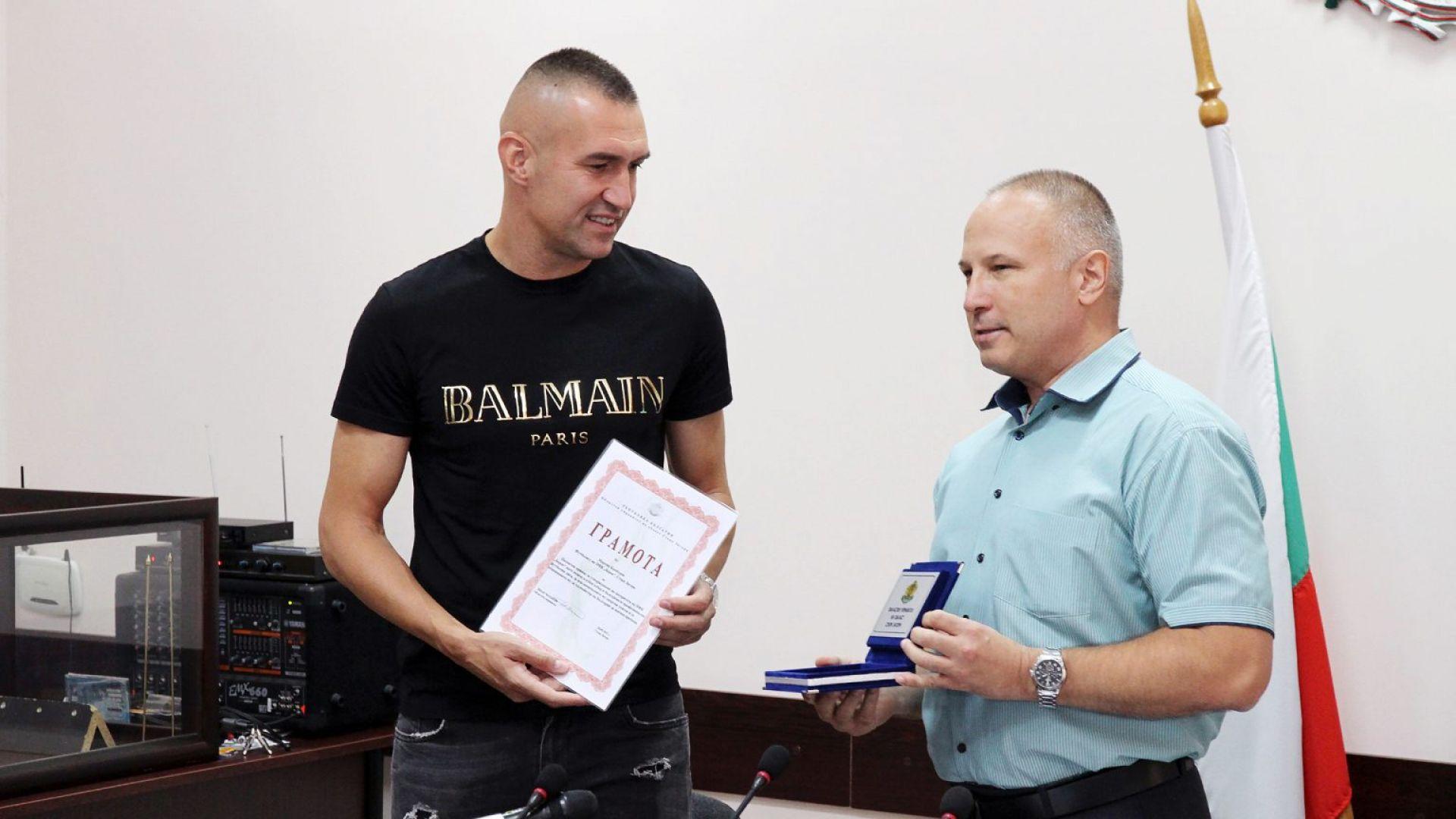 Камбуров получи почетен знак от Областната администрация в Стара Загора