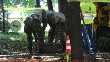 Откриха невзривен снаряд в района на НДК в София (снимки)
