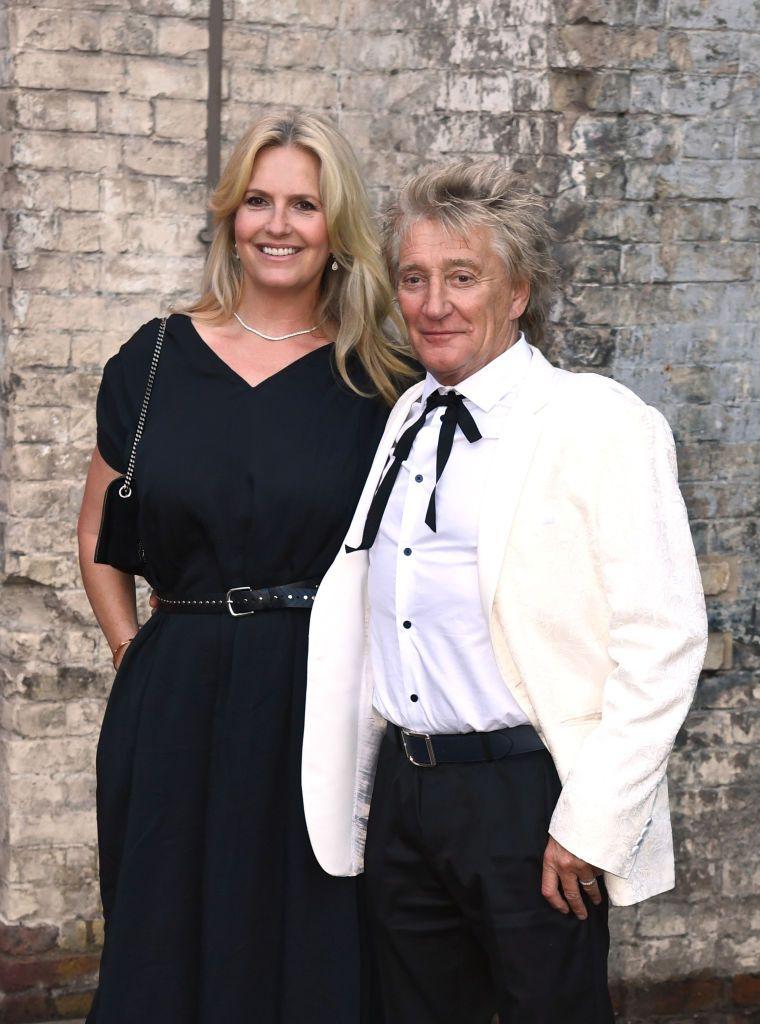14 септември 2021 г. Род Стюарт и съпругата му Пени Ланкастър на наградите Sun's Who Cares Wins в Лондон