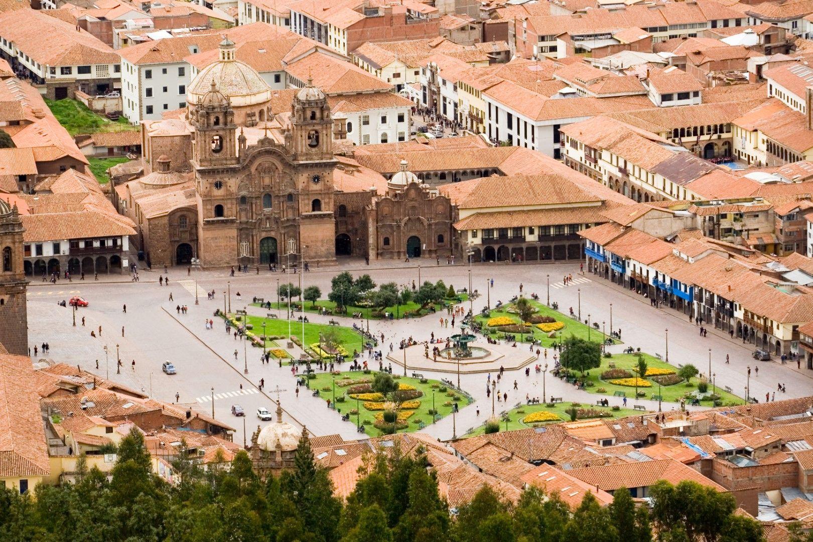 "Площад ""Пласа де Армас"" в Куско, Перу"