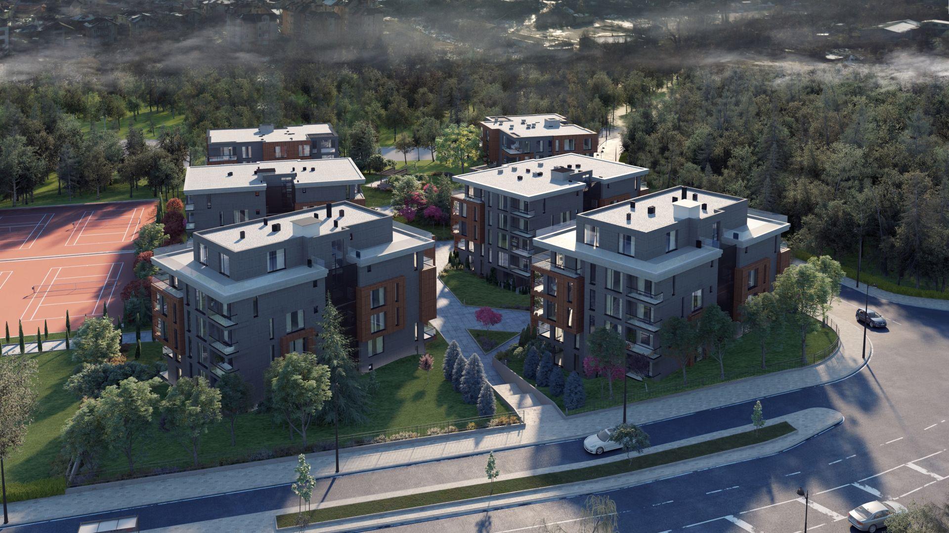 Първи жилищен комплекс в България със СПА център с минерална вода и парк