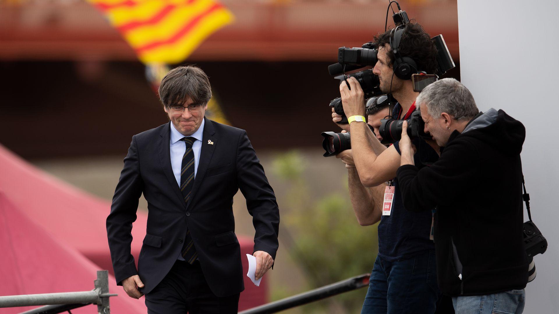 След ареста на Пучдемон на остров Сардиния: Мадрид иска да съди сепаратиста изгнаник