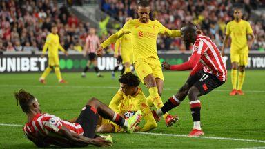 Брентфорд и Ливърпул сътвориха едно от зрелищата на сезона