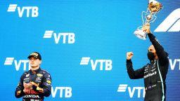 Огромна драма под дъжда в Русия: Хамилтън грабна своята победа №100