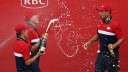 Бира, шампанско, пури... САЩ отпразнува рекордния разгром в мача за най-важната купа