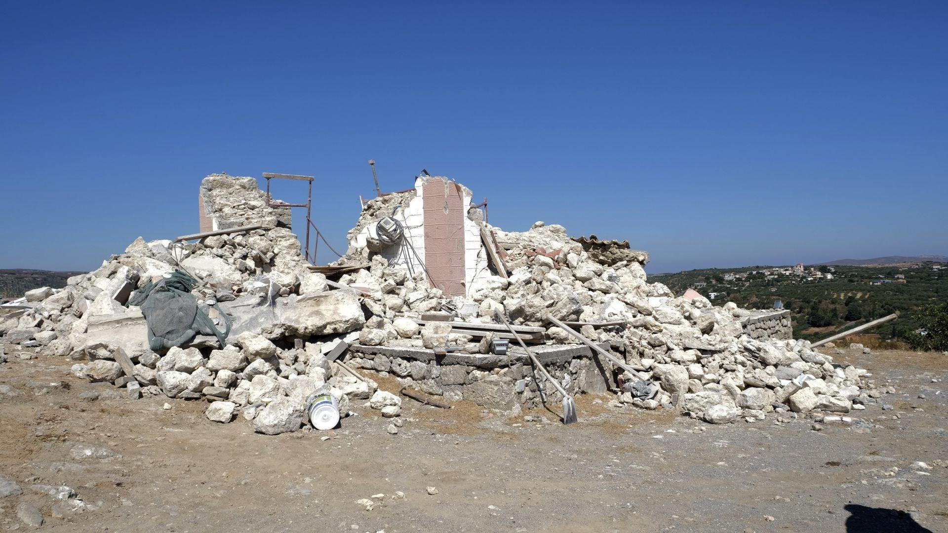 Нов силен трус разтърси остров Крит (видео)