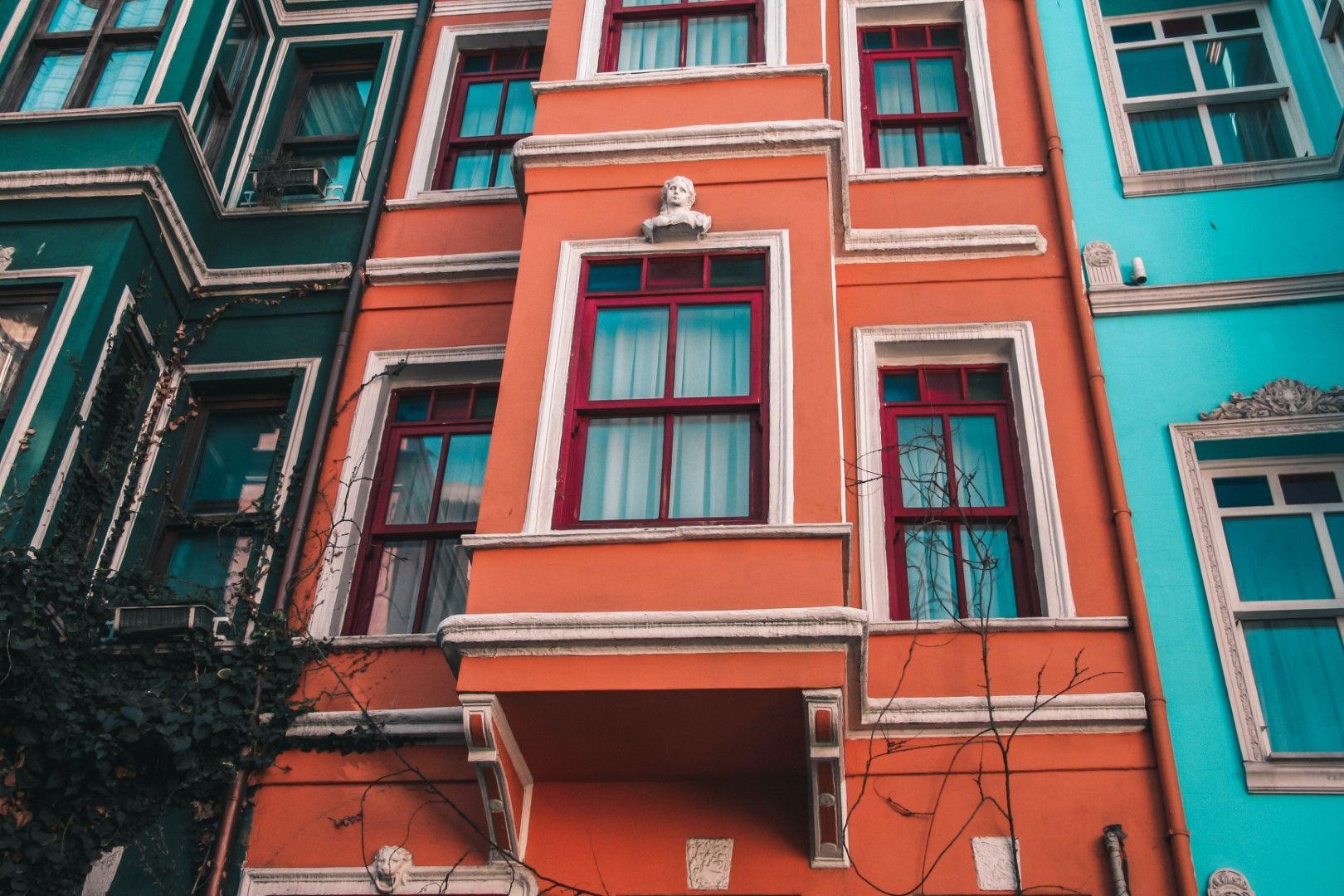 Квартал Балат с цветните си старовремски къщи