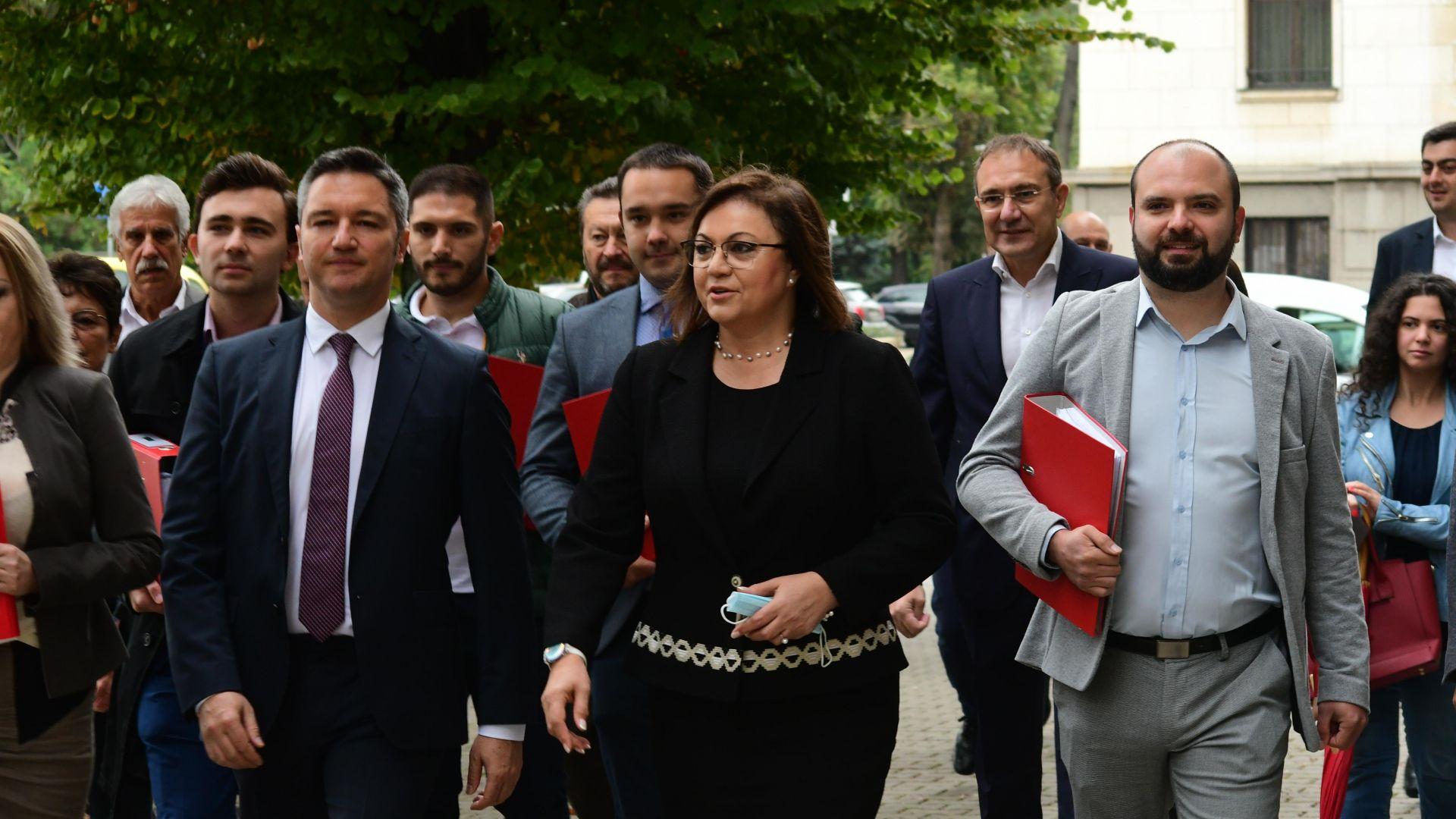 Нинова регистрира БСП за вота: Без нас в следващото НС не може, подкрепата за Радев е решена