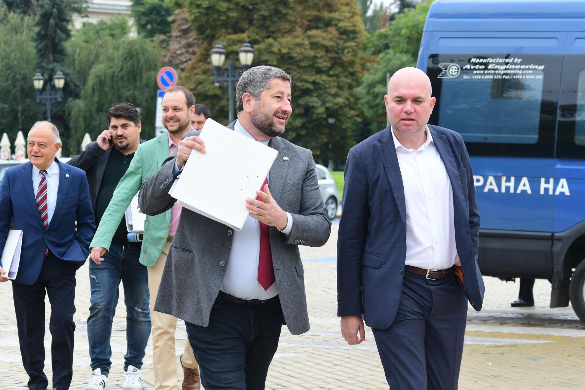 Христо Иванов и председателят на Зелено движение Владислав Панев