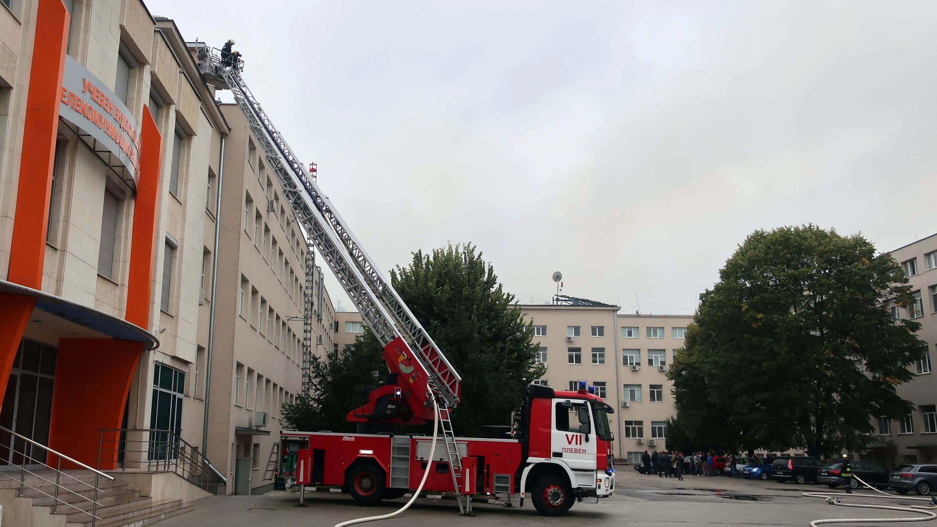 Студентите в Медицинския университет в Плевен ще учат онлайн заради пожара