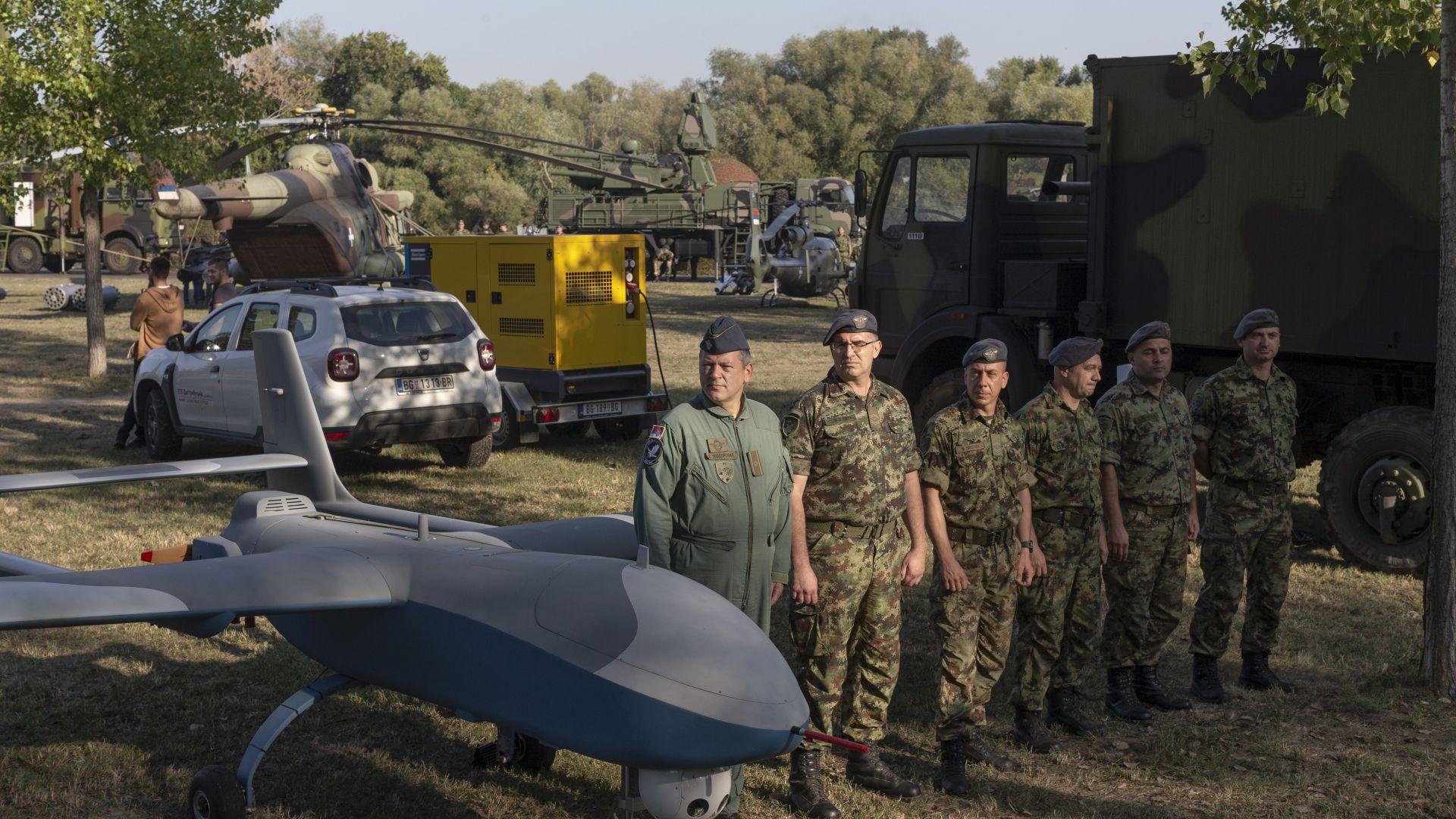 Израелски разузнавателен дрон, купен от Сърбия