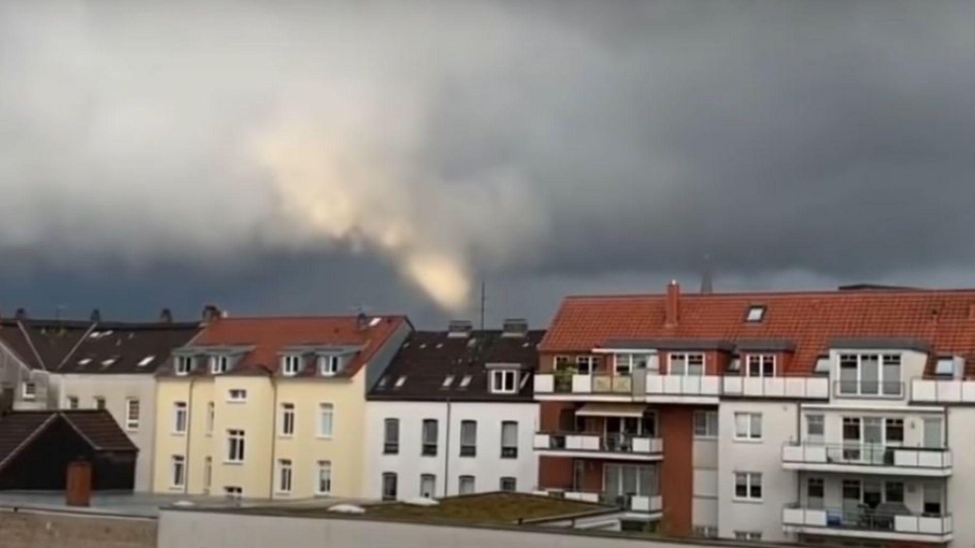 Торнадо рани 7 души в Германия (видео)