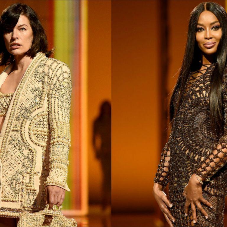 Мила Йовович и Наоми Кембъл се качиха на модния подиум за бранда Balmain