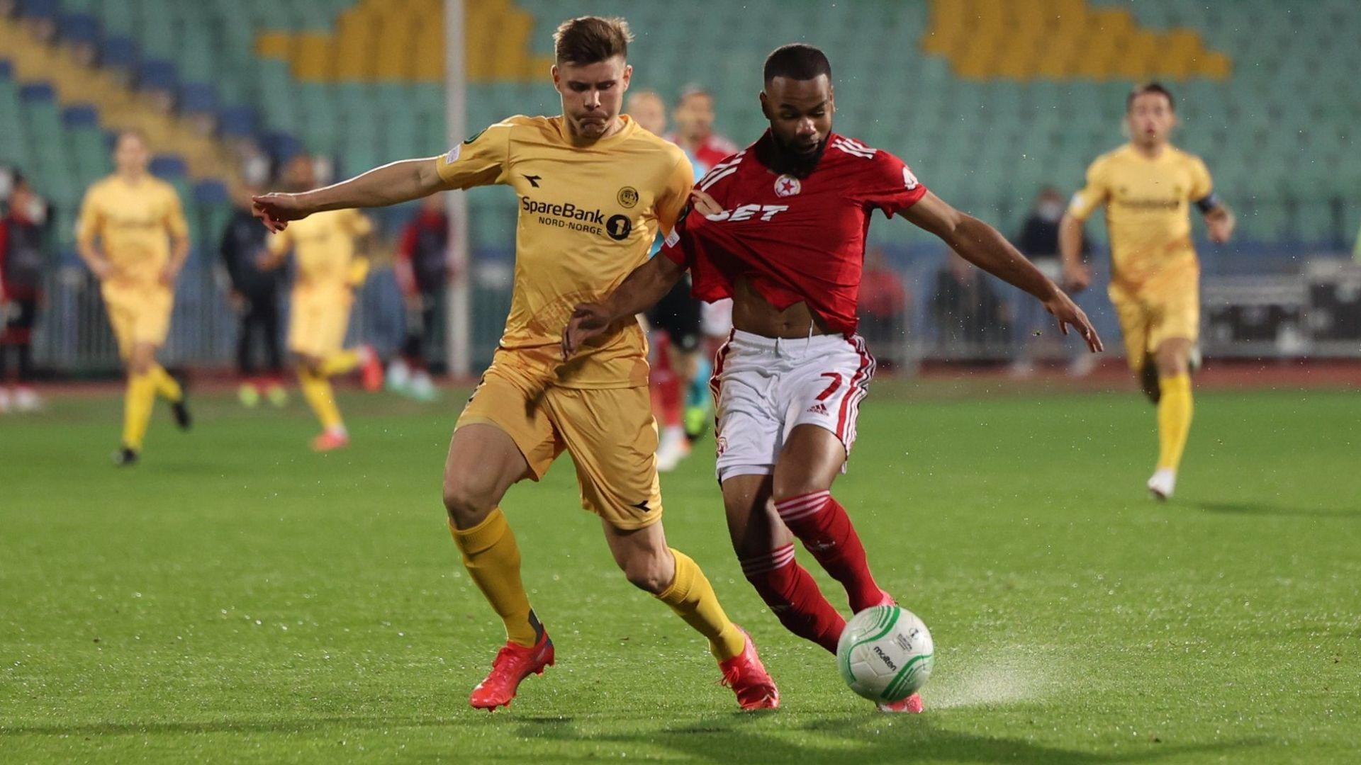 ЦСКА взе първа точка в групите след здрав мач с норвежкия шампион