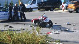 Моторист загина, а спътникът му е тежко ранен при удар в кола в София (снимки)