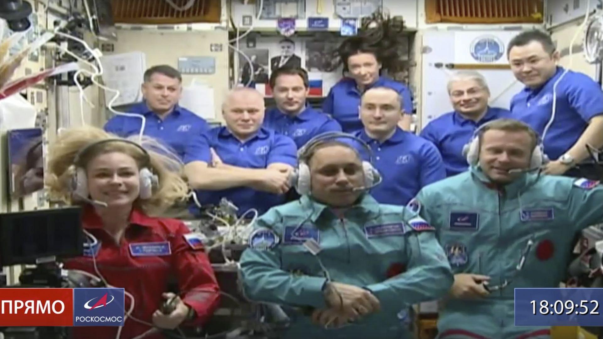 Руските актьори вече са на МКС