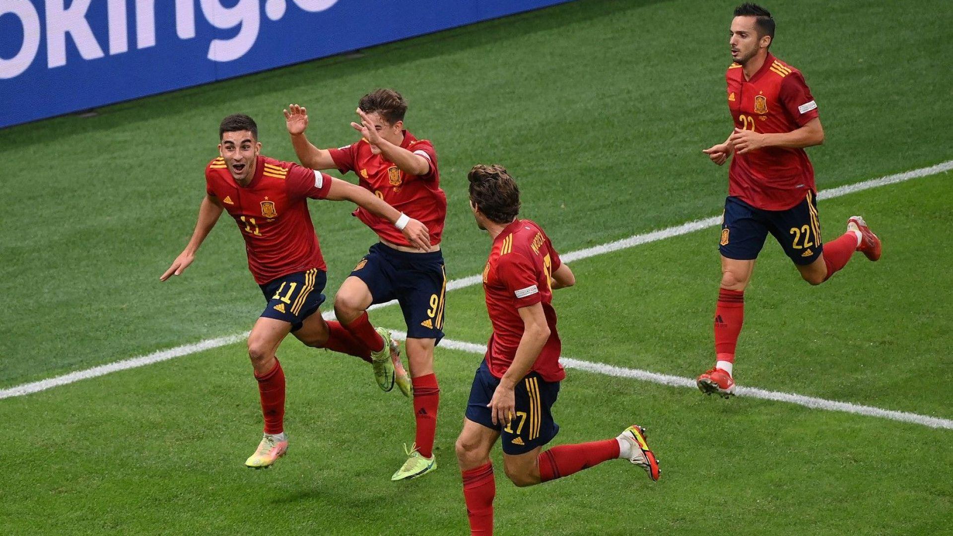 Испанска лекция спря рекордната серия без загуба на шампиона Италия