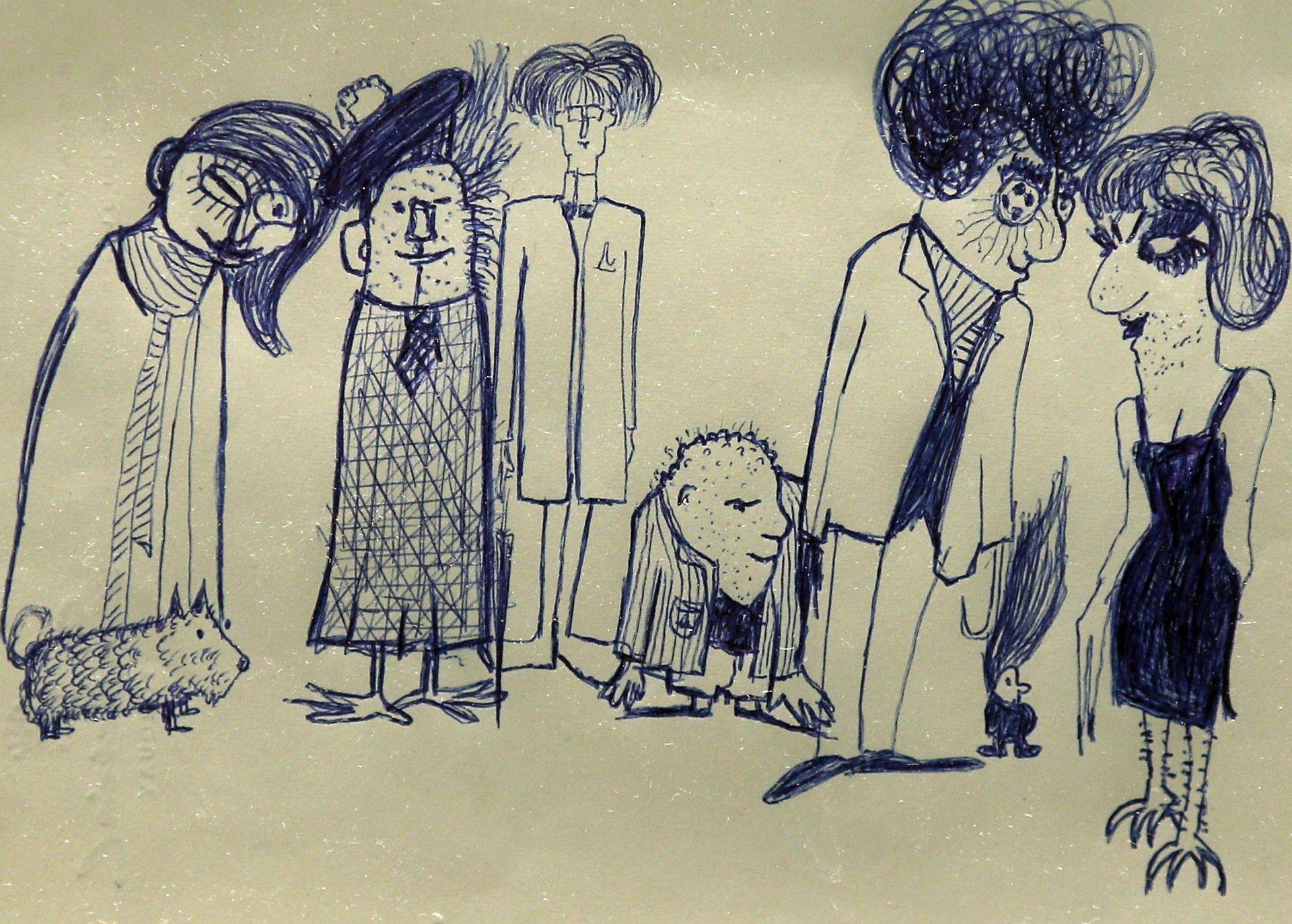 Рисунка на Джон Ленън,  продадена на търг през 2014 г.