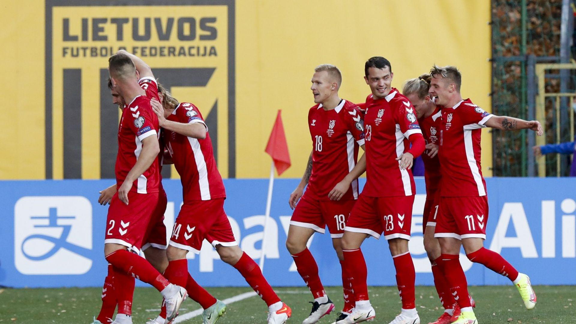 Футболна немощ: Литва пропусна да разгроми националния ни отбор
