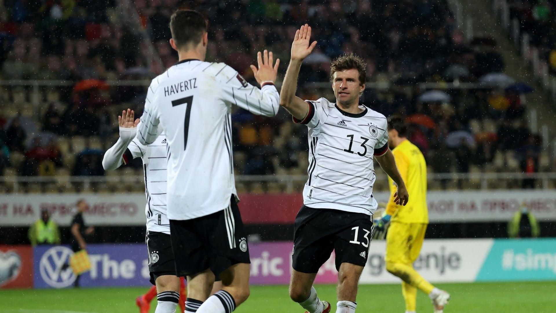 Разгром в Скопие осигури билетите на Германия за Мондиала (резултати)