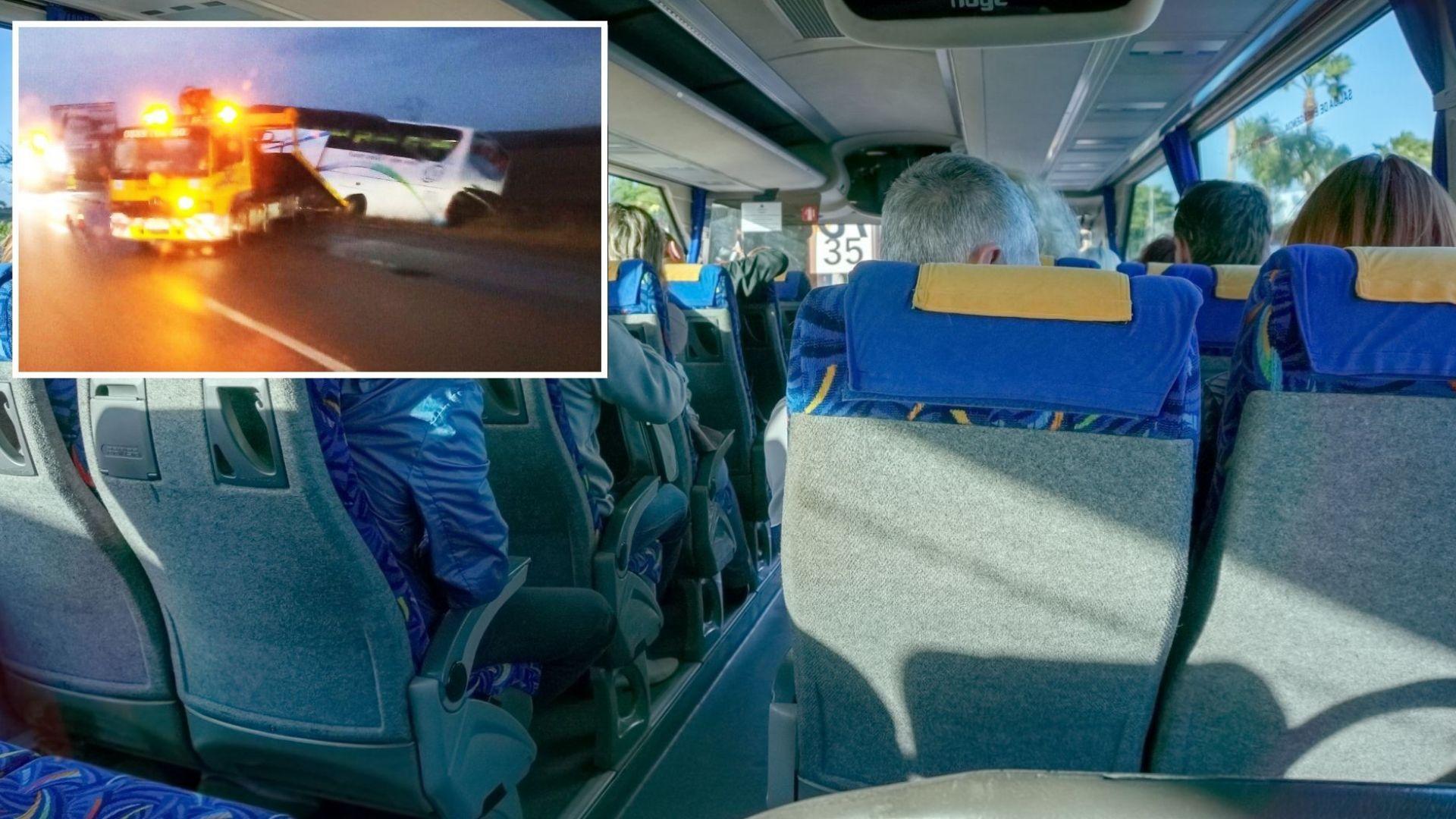 """Автобус влезе в канавката на магистрала """"Тракия"""", шофьорът се оказа дрогиран"""