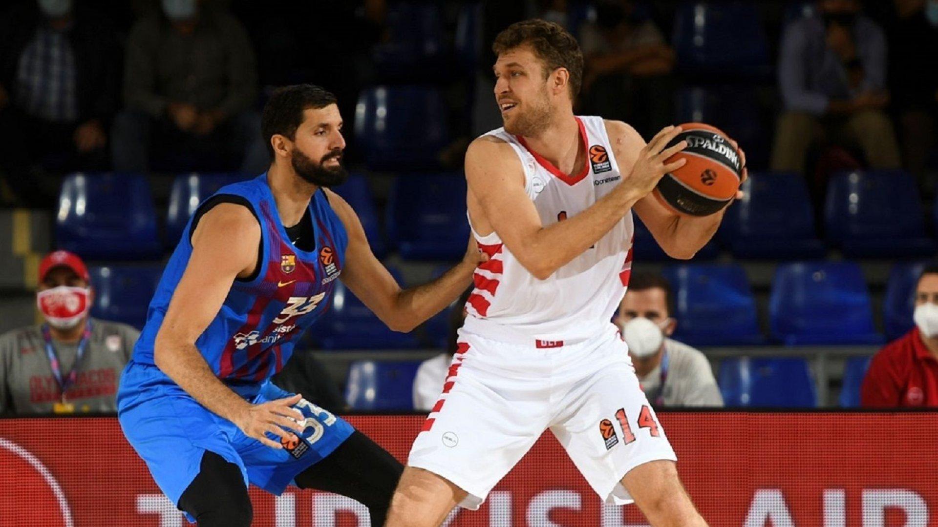 Везенков пак бе на ниво, но Олимпиакос не успя срещу Барселона