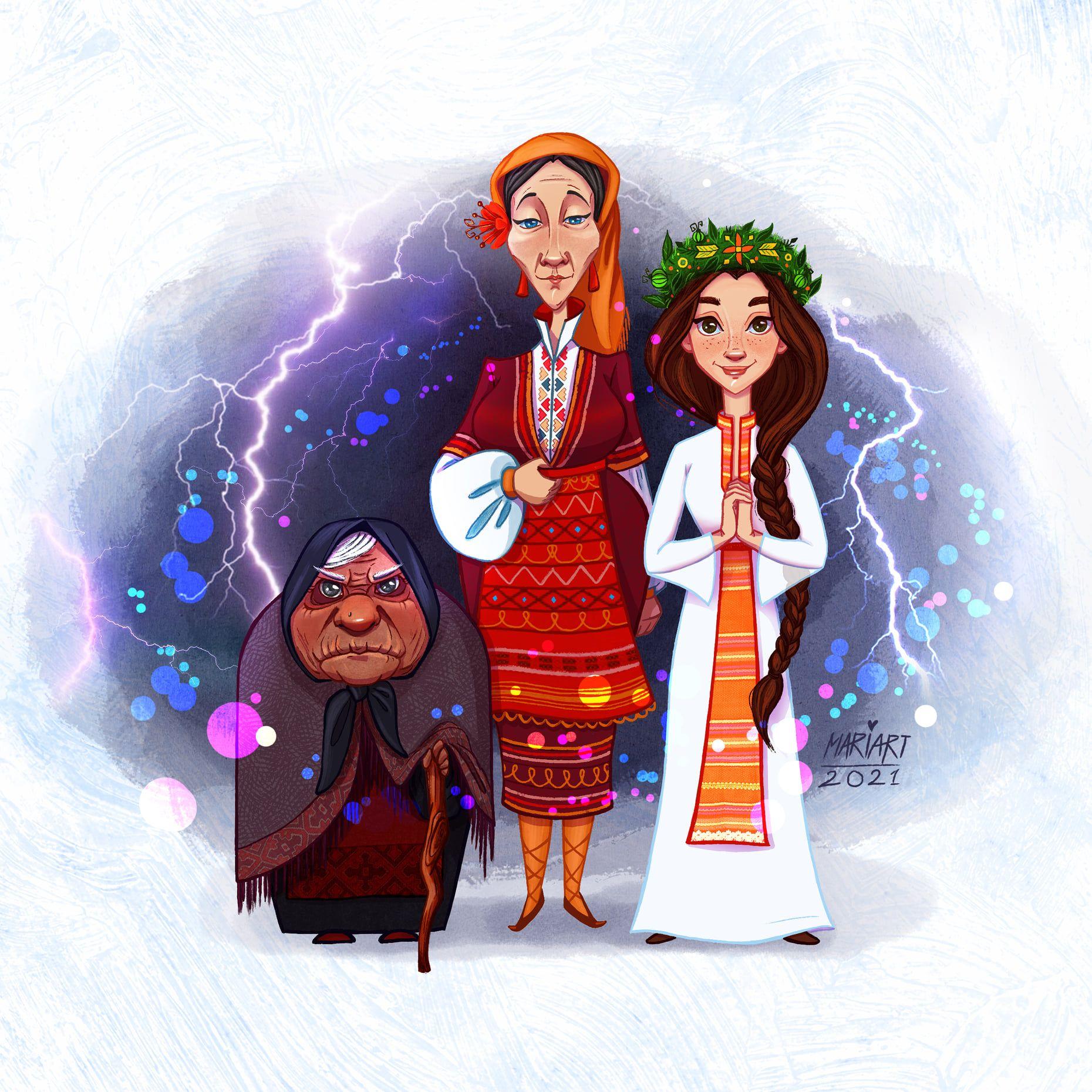 Героите са вдъхновени от българския фолклор