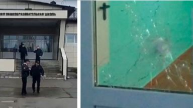 Седмици след трагедията в Перм: Ученик стреля в училище в Русия (видео)