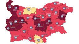 """10 области в """"тъмночервената"""" зона, само Плевен и Кърджали са в """"жълтата"""""""