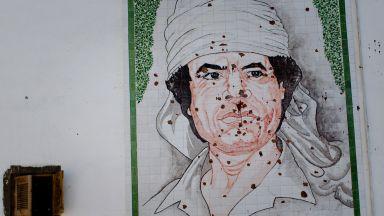 В деня на убийството на Кадафи портретът му пада от стената в един български кабинет