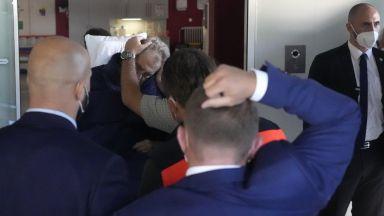Чешкият президент, който е в болница, беше показан на видеозапис