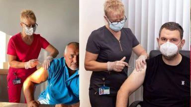 Ето коя е жената, ваксинирала Борисов, Пеевски и Карадайъ