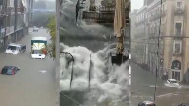 Жестока циклонна буря помете Сицилия, има загинали (видео)